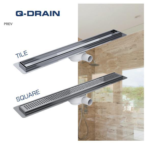 Q-DRAIN – odpływy liniowe